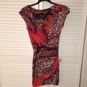 Low cut wrapped up v-neck dress